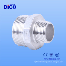 Ss304 Reducing Hex Nipple with BSPT/Bsp Screw End