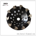 Diamond Grinding Cup Wheel with arrow shape segments for hard abrasives