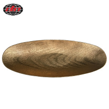Boat-shaped Wood Grain Plastic Charger Plate