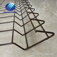 clôture soudée enduite de PVC barrière de fil de sécurité galvanisée enduit de barrière enduite de maille soudée