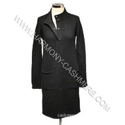 Cashmere Knitted Long Coat (HM-SW09024)
