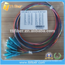 Aqua OM3 LC Optical Fiber Pigtail 0.9mm
