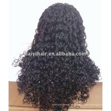Stock al por mayor pelucas de encaje indio