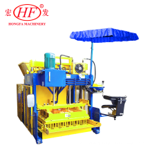 QMJ-10A Egg Layer Mobile Sand Fly Ash Cement Concrete Solid Hollow Block Brick Making Molding Machine