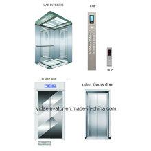 Ascenseur de passagers avec ligne de cheveux en acier inoxydable