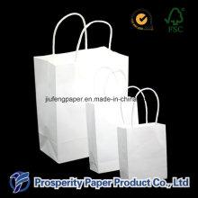 Bolsa de papel Kraft branco