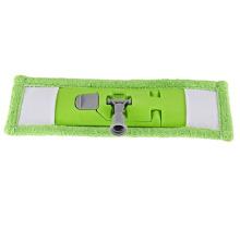Cabeza plana profesional de la fregona de la microfibra del doble de la limpieza verde del hogar del nuevo diseño