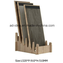 Natural MDF Wooden Display Rack/ Display for Tile Advertising