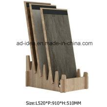 Естественный MDF деревянный Стеллаж для выставки товаров/ Дисплей для рекламы плитки