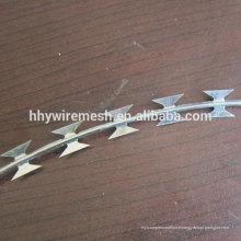 Exportation de fil de fer barbelé tranchant galvanisé de rasoir au fil de rasoir du concertina du Liban