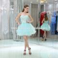 Fertigen Sie Entwurfsrhinestone Frauen-Kleidung-reizvolle Sommer-Spitze-Kleider besonders an