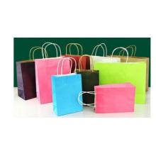 Sacs à provisions en papier promotionnels, logo personnalisé de sacs kraft bruns