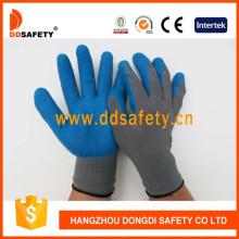 Nylon gris con guante de látex azul Dnl116