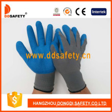 Graues Nylon mit blauem Latex-Handschuh-Dnl116