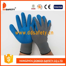 Nylon gris con azul Latex Glove-Dnl116