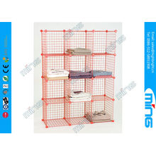 Black Mini Wire Display Stands Grid Panels Cube Unit For Clothing