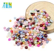 Top-Qualität Mix Farbe Kunststoff Perle abs halbe Perlen Perlen für Handy Shell