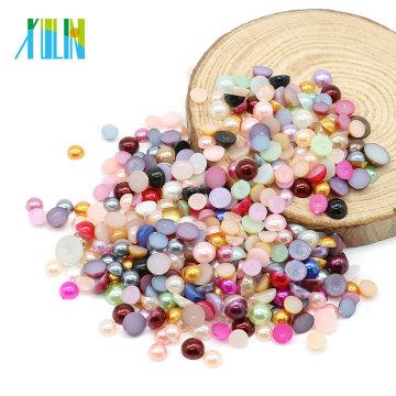 Haute Qualité MIX Couleur Plastique Perle abs Perles Demi Perles pour Téléphone Mobile Shell