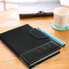 Cuaderno de notas amplias / Libro de revista de cuero / Cuaderno de papel punteado