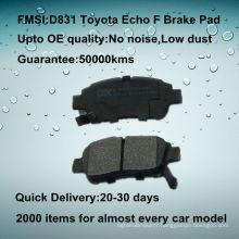 Plaquette de frein à disque auto Toyota Yaris de qualité OE D831