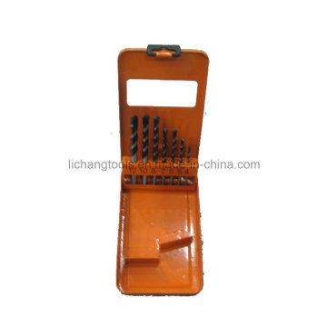 Conjunto de herramientas eléctricas 7 piezas de broca de taladro de mampostería, caja de aluminio