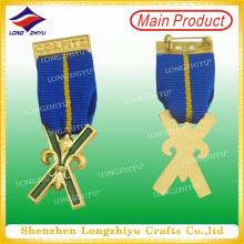 3D personalizados de estilo militar insignia de metal con pin de seguridad (LZY00016)