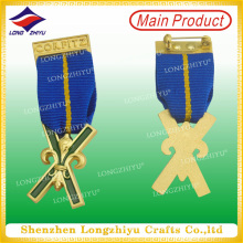 3D Custom Military Style Metal Badge with Safety Pin (LZY00016)