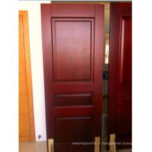 Porte en bois massif en poire rouge