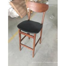 Nova chegada mobiliário couro cadeira alta pernas bar fezes para Dubai