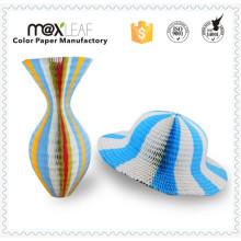 Chapeau en papier coloré chapeau de paille de base
