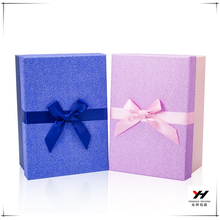 2018 wholesale colorful printed recyclable cardboard boxes with ribbon bow for flowers