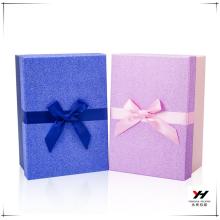 2018 en gros coloré imprimé boîtes en carton recyclables avec noeud de ruban pour les fleurs