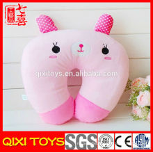 Stuffed cute rabbit shaped pillow pink plush rabbit neck pillow