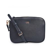 Minimalist Navy Blue Leather Handbag Satche Mum's Bag