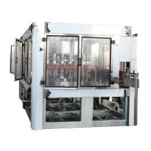Llenado de líquido de lavado de botellas con máquina de sellado de papel de aluminio