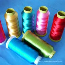 120d / 2 fil de broderie de multifilament de polyester 100%