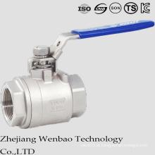 Válvula de esfera de aço inoxidável da linha 2PC fêmea com punho de Manul