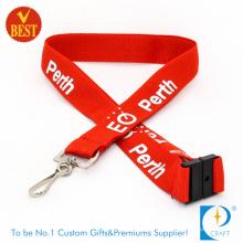 Lanyard personalizado do pessoal do seguro com logotipo impresso.