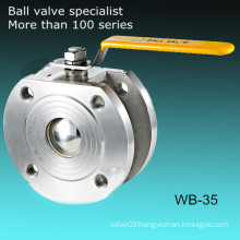 1PC Italy Type Stainless Steel CF8 Wafer Ball Valve