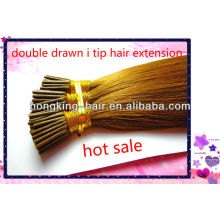 cheap 100% human hair double drawn stick i tip hair extension