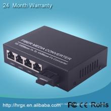 Хорошая цена 10/100 м волокна 1 4 Ethernet интернет медиа конвертер