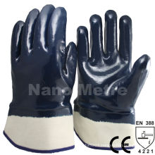 NMSAFETY EN 388 4221 ++A grade Heavy duty dark blue nitrile oil field gloves