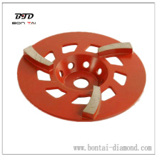 Segmented diamond cup wheel for coarse, medium, fine grinding