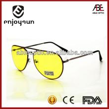Óculos de sol de cor amarela de metal atacado Alibaba