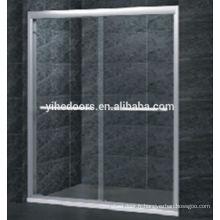 Porte de douche de porte coulissante en verre trempé de 8MM