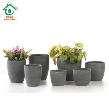 Vente en gros pot de fleurs en céramique antique pour décoration de jardin, pot en céramique