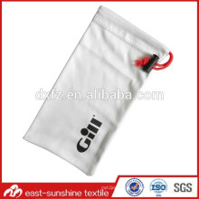 one color printing bag,promotional drawstring bag,custom logo print microfiber eyewear cleaning pouch bag