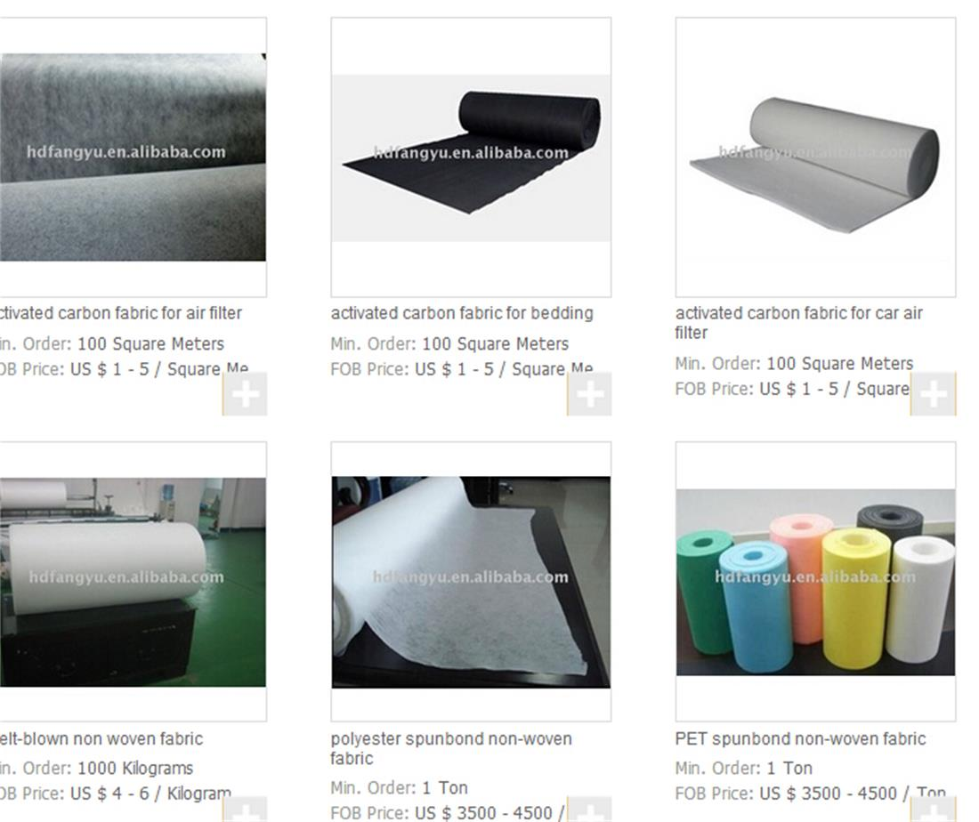 best price of non woven fabric