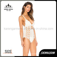 Cross Back Handmade Crochet Swimsuit for Women