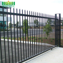 Living area spear top tubular steel slide gate
